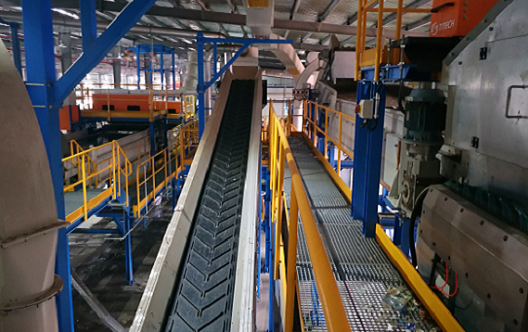 Household plastic recycling production line