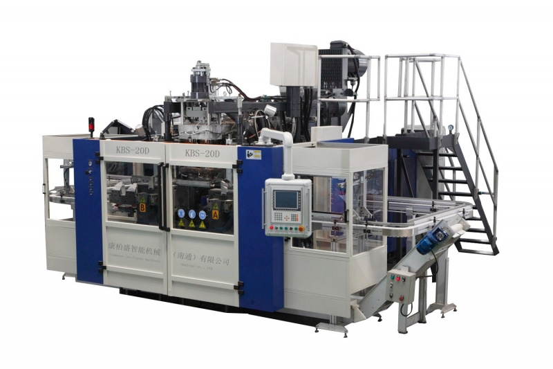 Compason K20D-750 full automatic bottle blow molding machine/ dual working station single cavity bottle blow machine