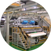 Mask and melt-blown cloth production line