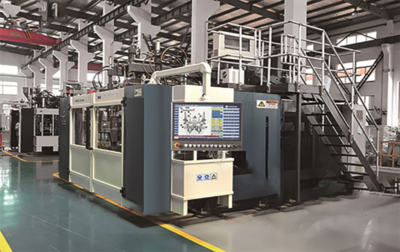 Dual station 10-30L automatic blow molding machine for stacking bucket